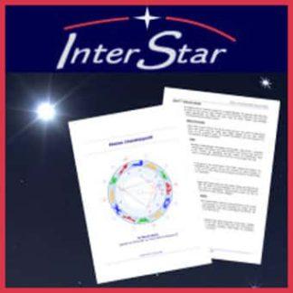 Astrologisches Charakterprofil vor Sternenhimmel