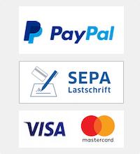 Angebotene Bezahlweisen von InterStar